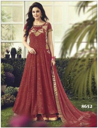 Maroon Designer Anarkali Suit (JINAAM8652)