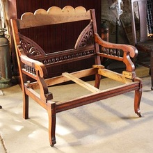 Decorative Antique Hand Carved Wooden Chairs Frame