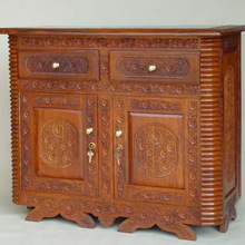 Decorative Handmade Wooden Wine Cabinet