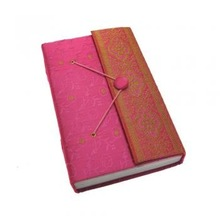 Embroidered Handmade Beaded Fabric Notebook