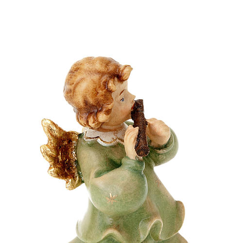 Wooden Angel Statue With Flute