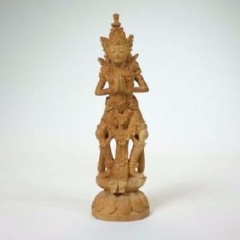 Wooden Carved Vishnu Statue
