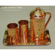 Copper Jug Glass Set