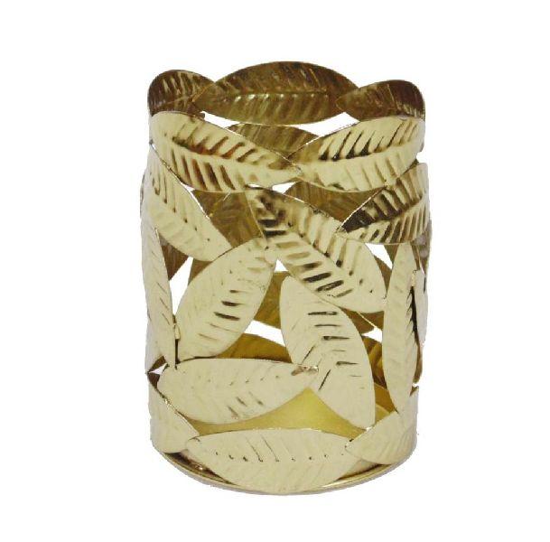 Antique brass leaf design Home Decor votive