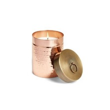 Copper Candle cup with brass Lid