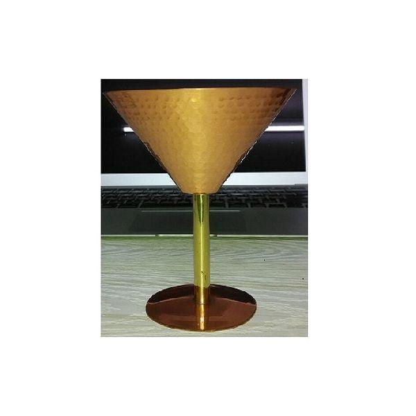 Hammered Copper wine Goblet