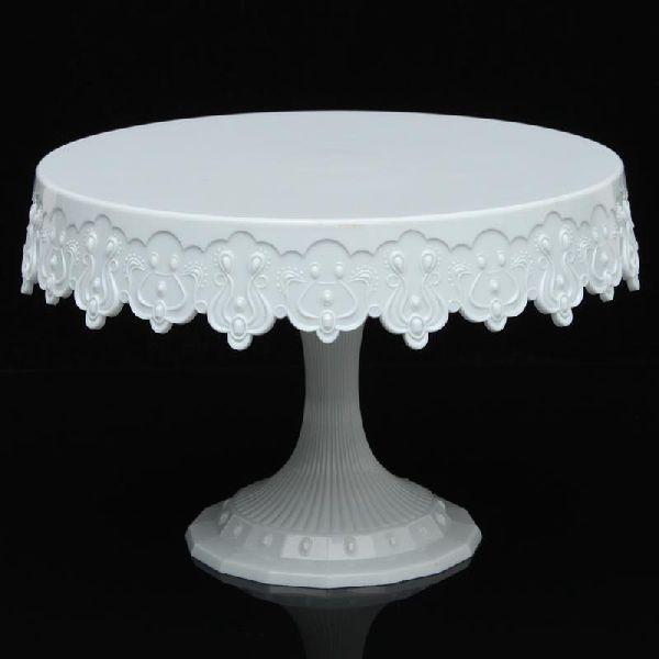 Round White Cake Stand