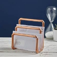 Shiny Gold Iron Wire letter Holder