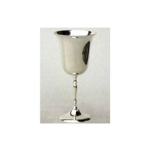 Silver Plated Engraved Brass Wine Goblet