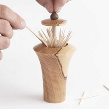 Wooden Tooth Pick Holder