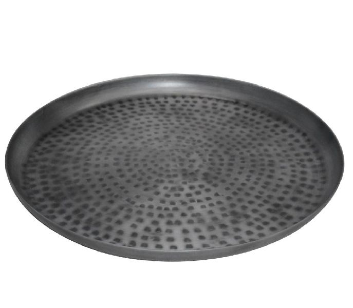 Zinc Antique Round Iron Charger Plates