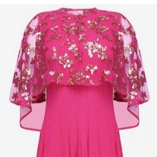 Youdesign Georgette Gown In Pink Colour