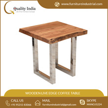 Elegant Designed Wooden Live Edge Coffee Table