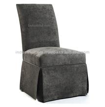 Gray Velvet Tufted Dining Chair