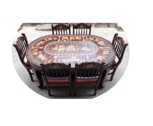 Heritage look wooden dining table