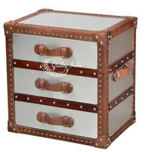 Metal Trunk Cube 3 drawer