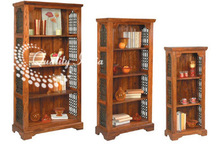 Wooden Open Four Shelves Book Display Rack