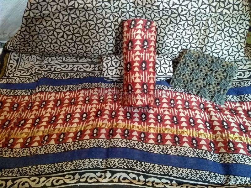 Chanderi Cotton Unstitched Suits