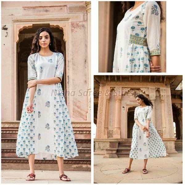 Jaipuri Cotton Printed Kurtis