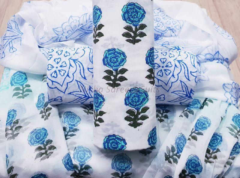 Jaipuri Cotton Unstitched Suits