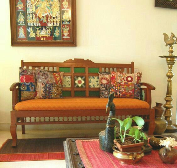 Home Design Ideas India: Antique Chettinad Living Room Sofa By Furnitree, Antique