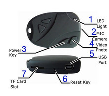 DVR Car Keychain HD Camera
