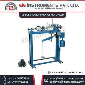 Light Weight Sturdy Direct Shear Apparatus Motorised