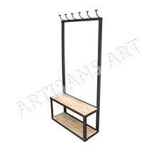 Industrial Metal Wood Cloth Hanger
