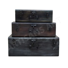 Rustic Antique Nesting Storage Box Set of Three