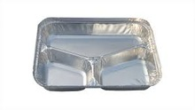 ALUMINUM FOIL FOOD CONTAINERS WITH COMPARTMENT