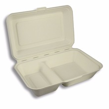 BIODEGRADABLE LUNCH BOX WITH COMPARTMENT
