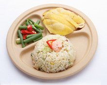 BIODEGRADABLE PLATE WITH COMPARTMENT