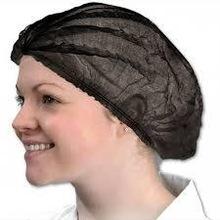 DISPOSABLE BLACK BOUFFANT CAP