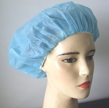 DISPOSABLE BLUE BOUFFANT CAP