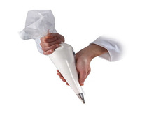 DISPOSABLE CLEAR PASTRY PIPING BAG