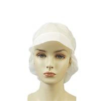 DISPOSABLE NON WOVEN WHITE CAP