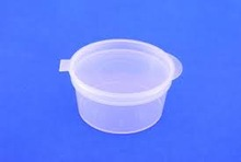 HINGED LID SAUSE CUPS