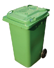 PLASTIC GARBAGE BIN WITH WHEEL