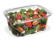 Salad clear container