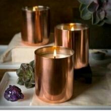 COPPER JAR candle votive