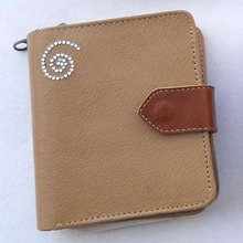 genuine leather with gem stone wallets