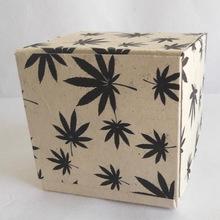 Hemp paper hand made folding box
