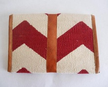 Indian handwoven cotton dhurrie clutches bags