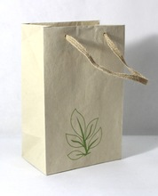 jute ribbon handle bag