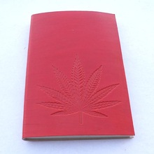 leaf embossed front cover notebook