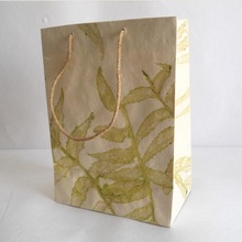 natural leaves impression bags