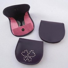 Promotional gift mini leather coin pouch