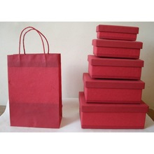 recycled plain cotton paper wrapping gift box