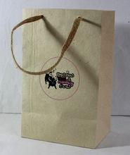 recycled printed hemp paper bag