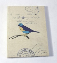 screen printed cotton canvas notebook